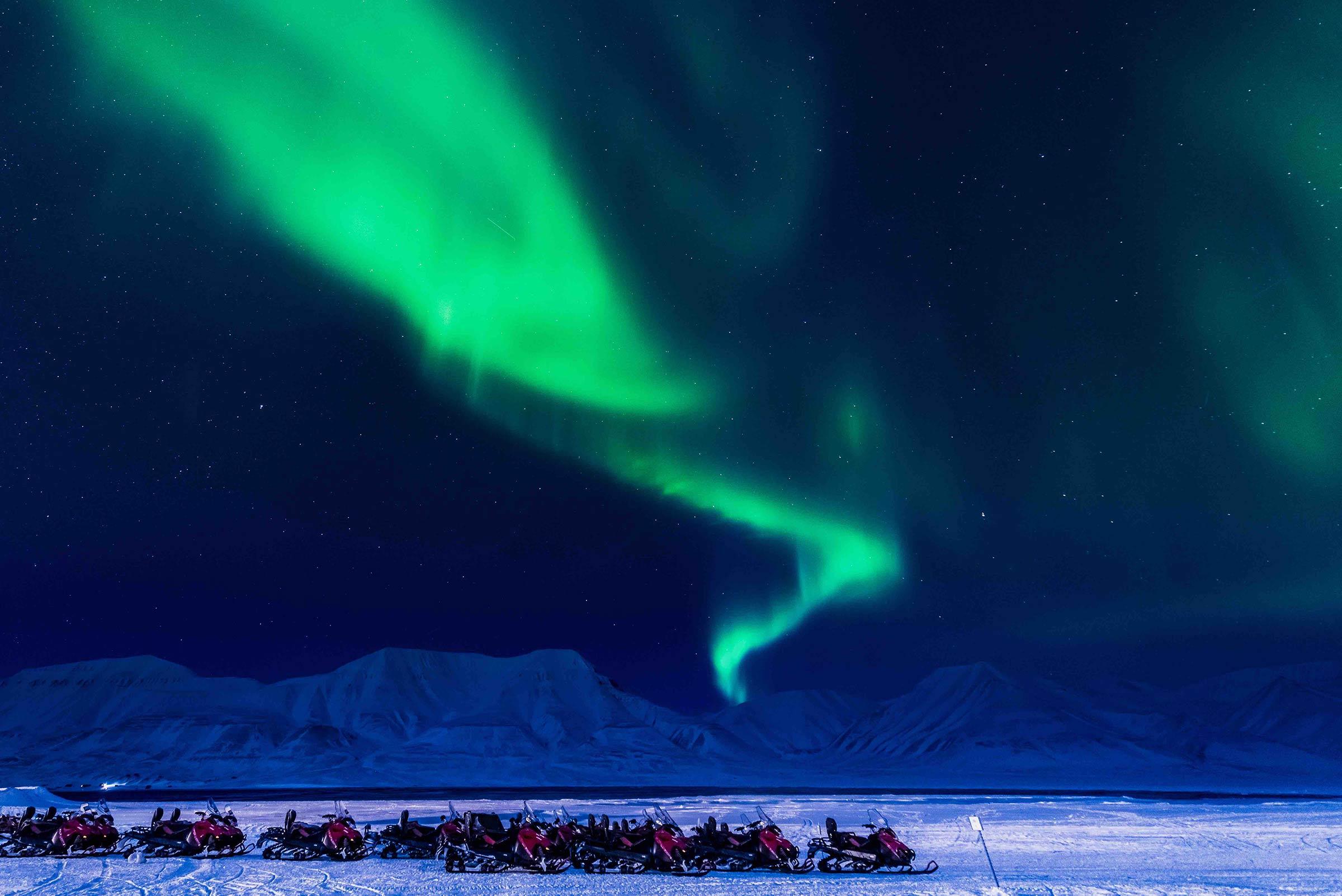 L'aurora boreale in Norvegia è uno spettacolo naturale unico.