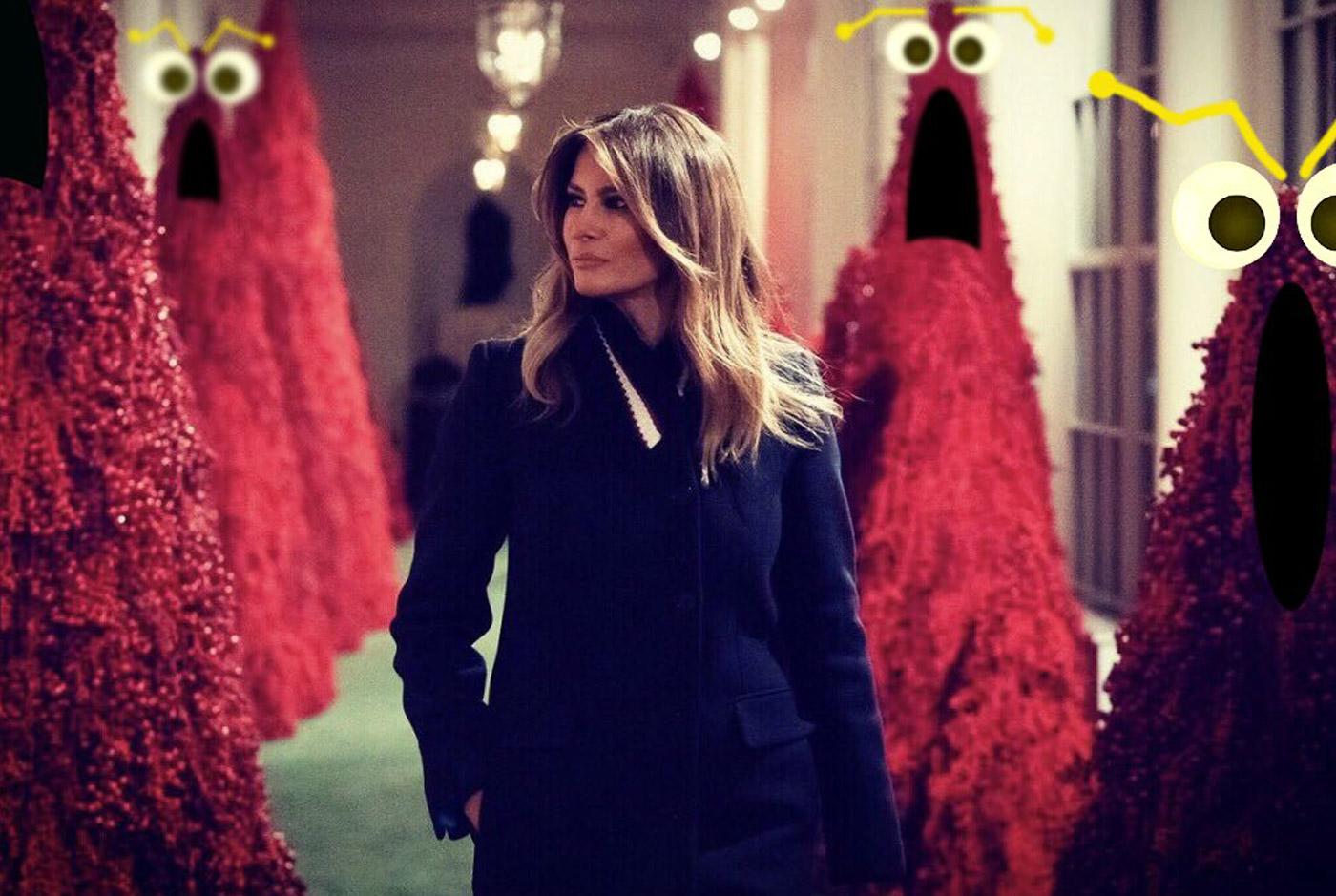 Gli alberi di Natale rossi della Casa Bianca ricordano i Muppet di Sesame Street