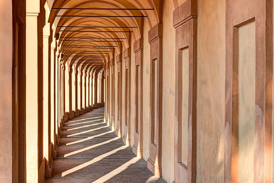 I portici di Bologna, un'altra delle cose tipiche della città