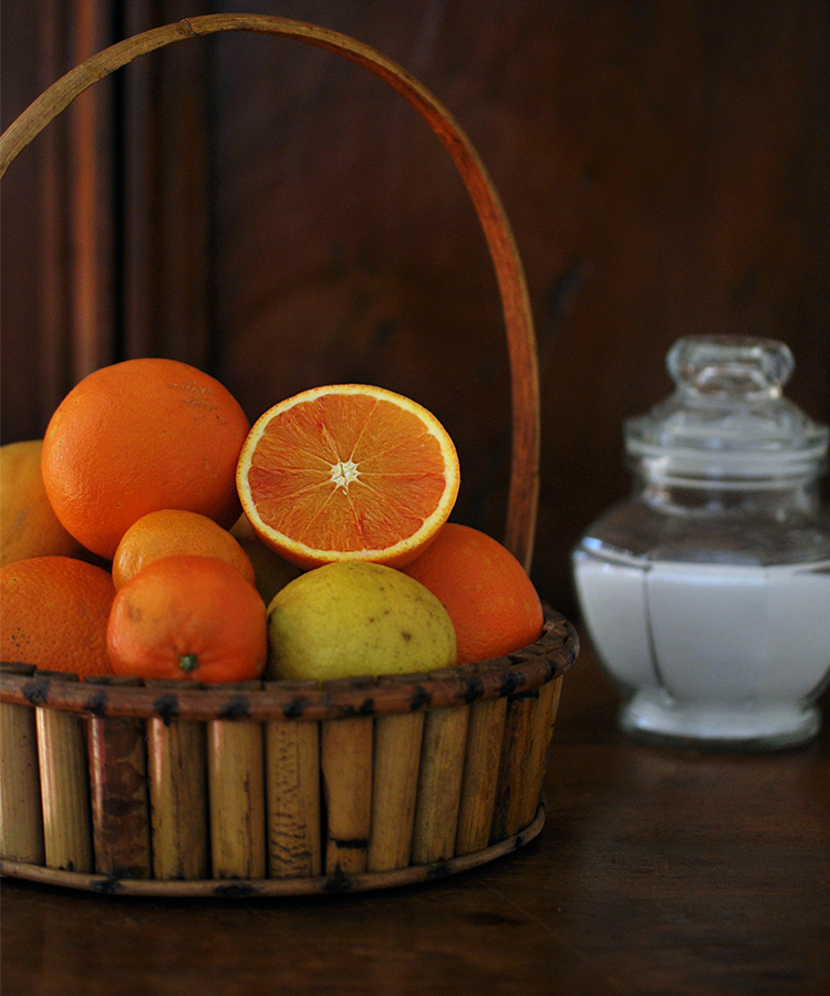 Ingredienti per marmellata di arance bio e limoni con la buccia