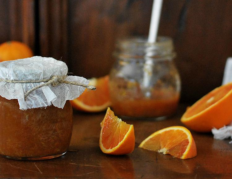 Marmellata di arance bio e limoni con la buccia