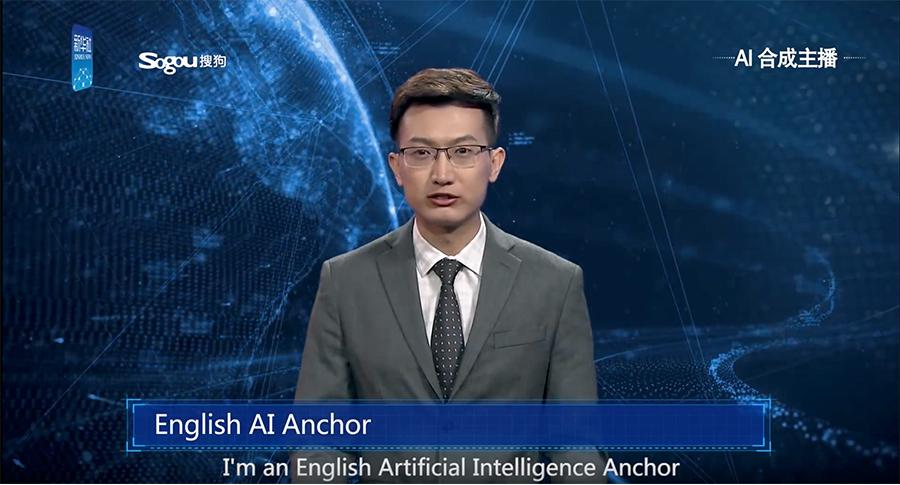 Notizia su un presentatore particolare: il primo anchor man virtuale