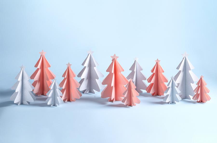 Alberi di Natale di origami