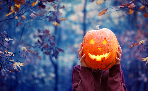 la zucca della festa di Halloween