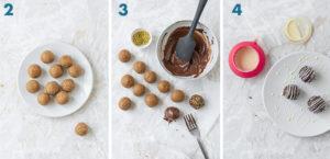 Cake pops colorati: decorazione con cioccolato bianco