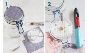 idee creative con i barattoli di vetro